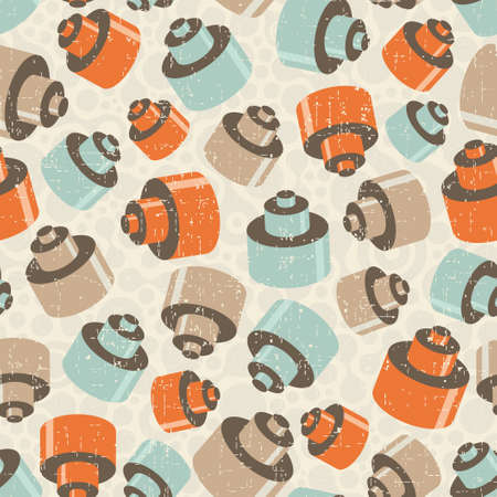 Seamless pattern with details. Mechanic vector background. Vector