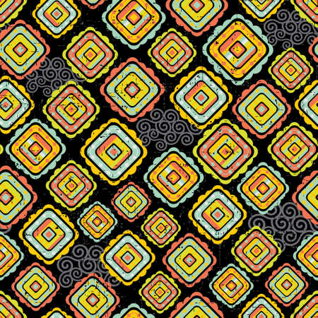 Abstract seamless pattern in bright colors  Vector