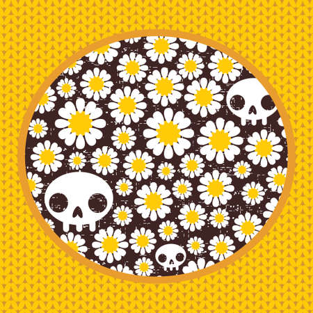 Nature skulls   pattern  Vector