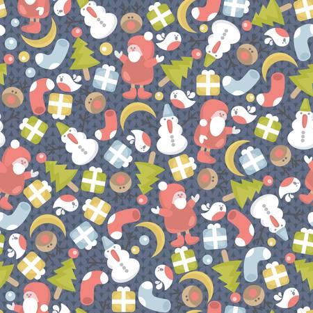 Divertente trama di Natale con elementi di piccole dimensioni