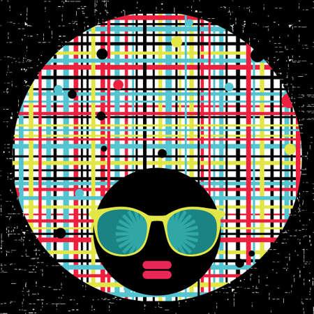 Black head woman with strange pattern hair Stock Vector - 17000192