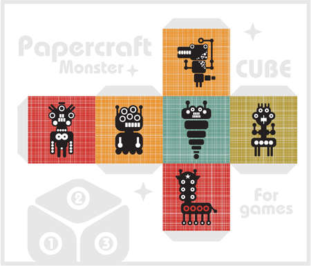 Paper cube for children games and decoration   Vector