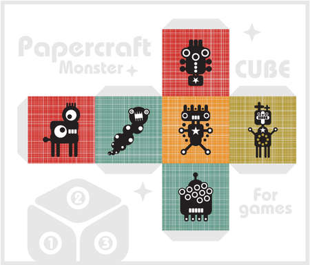Paper cube for children games and decoration Stock Vector - 17291245