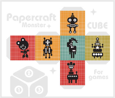 Paper cube for children games and decoration Stock Vector - 17291242