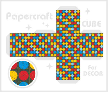 Paper cube for children games and decoration Stock Vector - 17478480