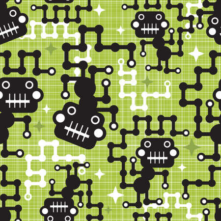 Robot monkey seamless pattern   Stock Vector - 17478459