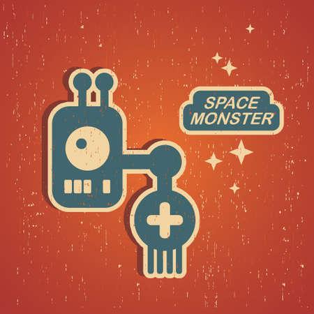 retro robot: Vintage monster  Retro robot illustration in vector