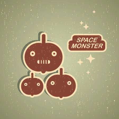 Vintage monster  Retro robot illustration in vector  Stock Vector - 17478484