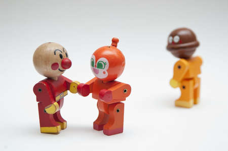 looser: Wooden dolls in love  Stock Photo