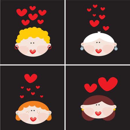 challenger: Female love Vector illustration