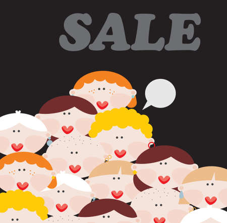 Women and SALE  Vector illustration  Vector