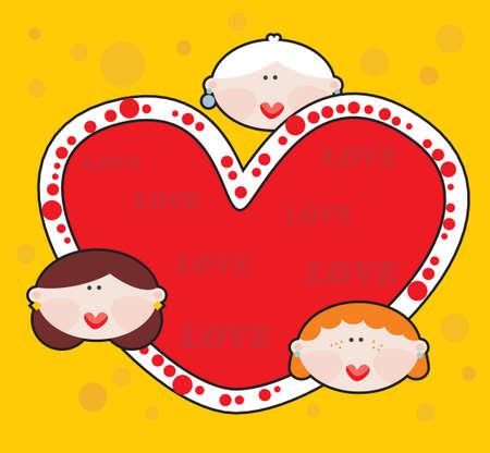 Female love Vector illustration Stock Vector - 18083589