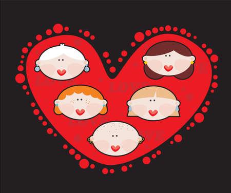 Female heart Vector illustration  Stock Vector - 18083600