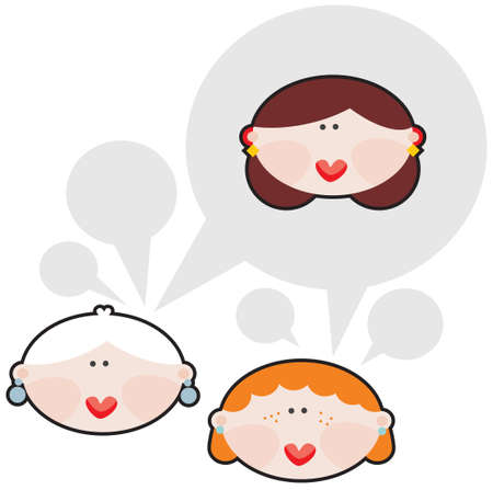 Female conversations  Vector illustration  Stock Vector - 18083571