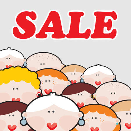 good friday: Women and SALE  Vector illustration  Illustration