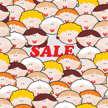 Women and SALE  Vector illustration Stock Vector - 18083597
