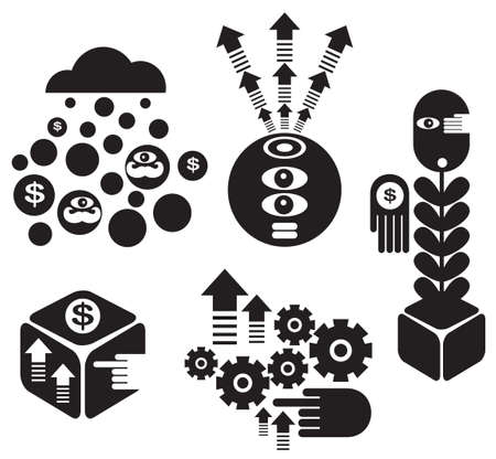 Set of creative miniatures  Vector illustration Stock Vector - 18843184