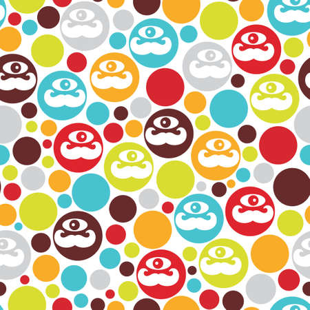 Colorful dots seamless background illustration  Vector
