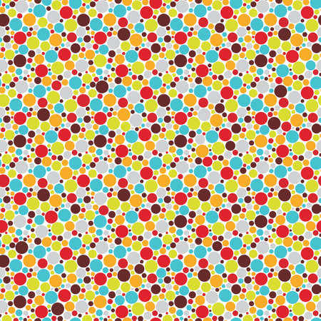 Seamless pattern with cool dots illustration  Vector