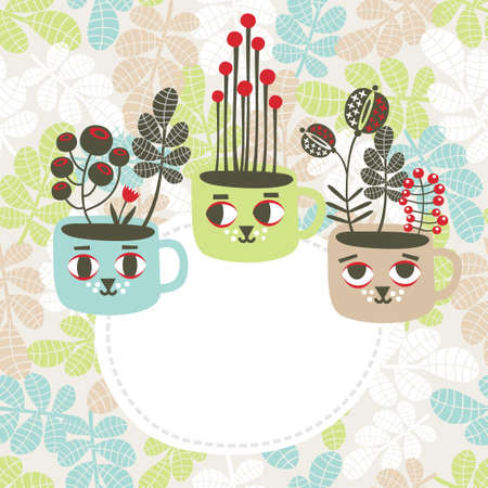 Creative banner with vases  Vector illustration  Vector