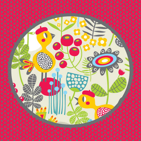 Nature and birds  Vector pattern Stock Vector - 19456298