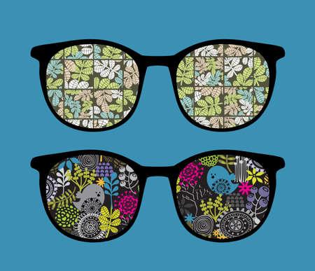 vision nocturna: Gafas de sol retro con la reflexi?n el que