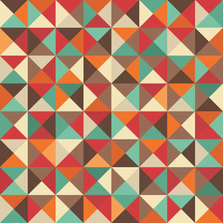 Retro naadloze achtergrond met geometrische vormen Stock Illustratie