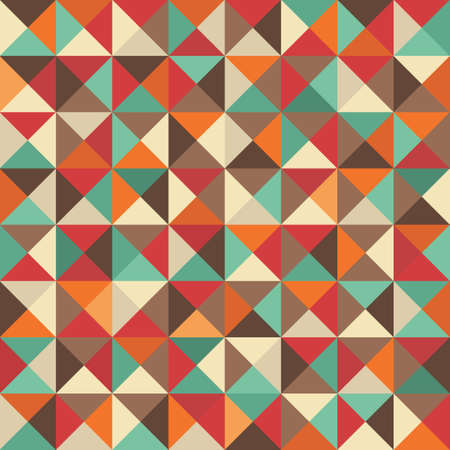 Retro seamless background with geometric shapes   Vector