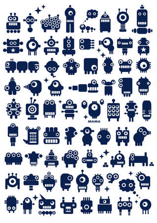 Big set of monsters and robots  Poster for your wall - just print and enjoy  photo