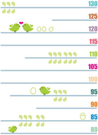 Medida de crecimiento los niños Poster - simplemente imprima y disfrute Ilustración de vector