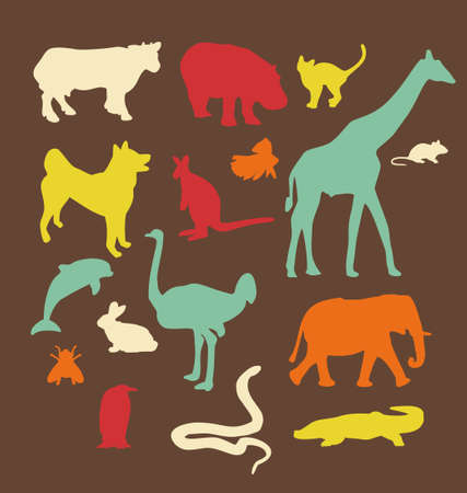 Animals set. Vector