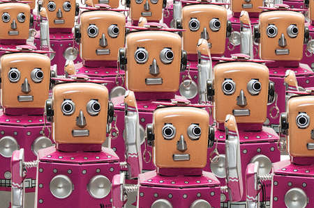 Pattern of robot toys. photo