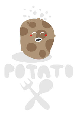 Potato monster. Vector illustration. illustration