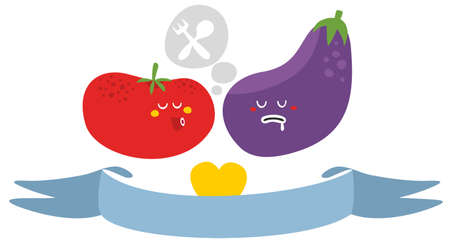 Freaky vegetables. Vector illustration. Stock Illustration - 26795623