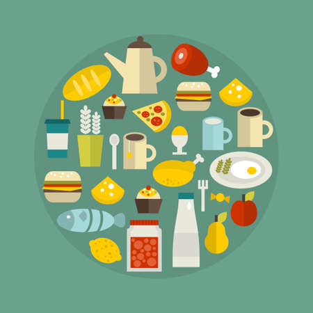 Food circle. Vector illustration. illustration