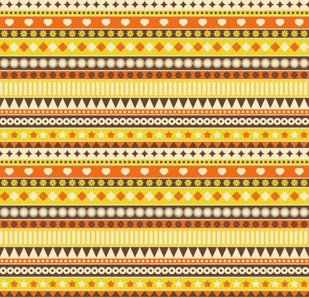 Ribbon seamless pattern. Vector background in retro style. photo