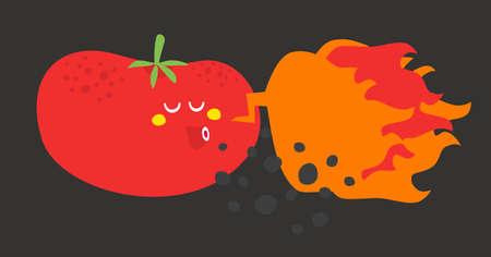 Crazy vegetable. Vector illustration. Stock Illustration - 26796273