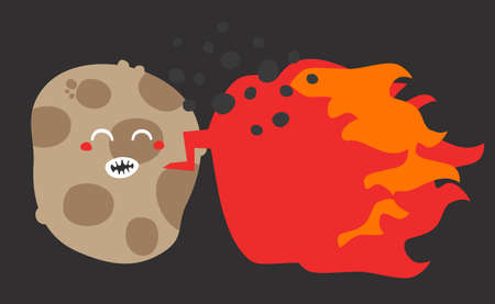 Crazy potato. Vector illustration. illustration
