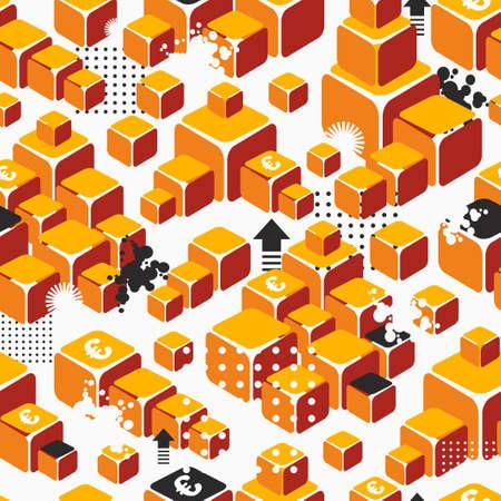 Business seamless pattern with gold ingots. photo