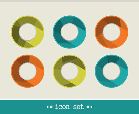 Universal icon set. Vector illustration of buttons.