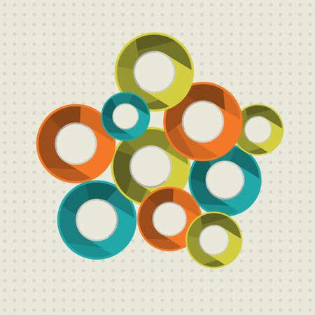 Vector illustration avec des anneaux.
