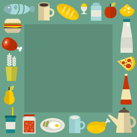 Food frame. Vector illustration. illustration