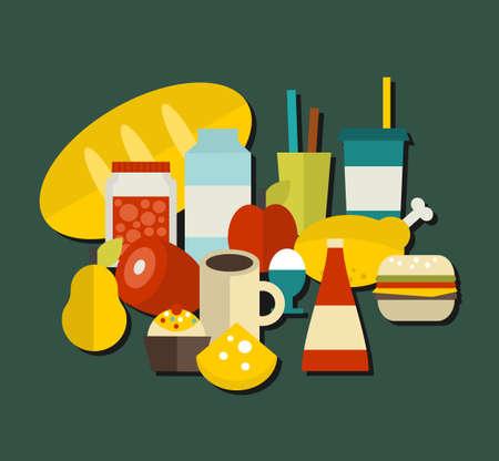 bad apple: Food label. Vector illustration.