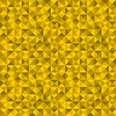 Seamless pattern with golden triangles. Vector repeated background. Vector