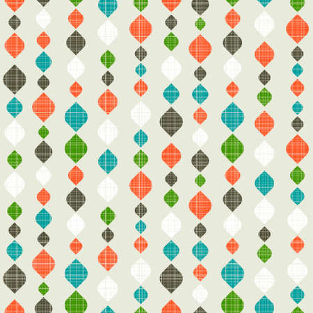 red wallpaper: Retro seamless pattern. Colorful vector background for hipster.