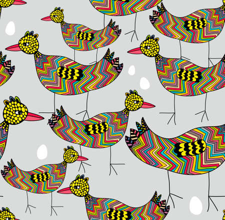 pigeon egg: Birds and eggs seamless background. colorful pattern.