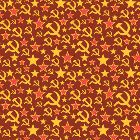 communism: Soviet Union seamless pattern. Colorful background in vector. Illustration