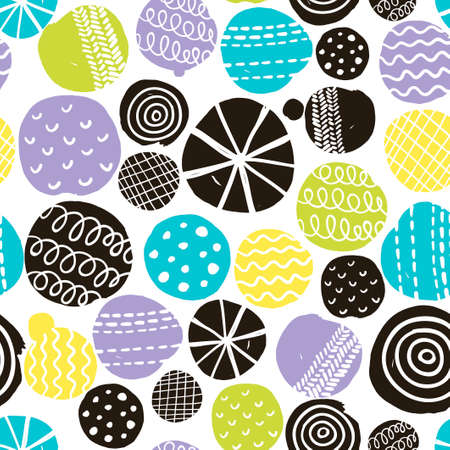 repeated: Seamless pattern with cute decoration. Vector repeated background.