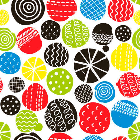 repeated: Colorful seamless pattern with decorative circles. Vector repeated background.