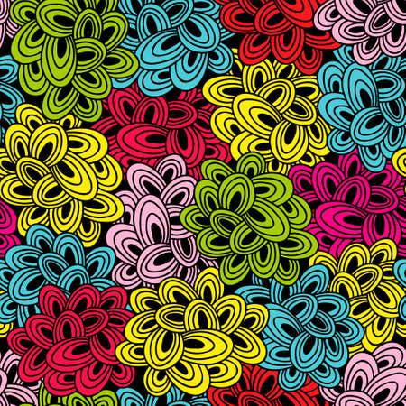 endlos: Bunte nahtlose Muster mit hellen abstrakte Wolken. Vector doodle Hintergrund.